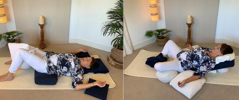 yoga bekkenhefpose godinnenpose
